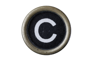 Isolated Letter C