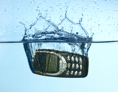 Cellular splashing into water